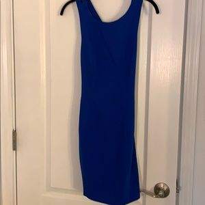 Forever 21 blue crossback body con dress